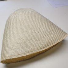 Large Natural Ramie Straw Milliner's Cone
